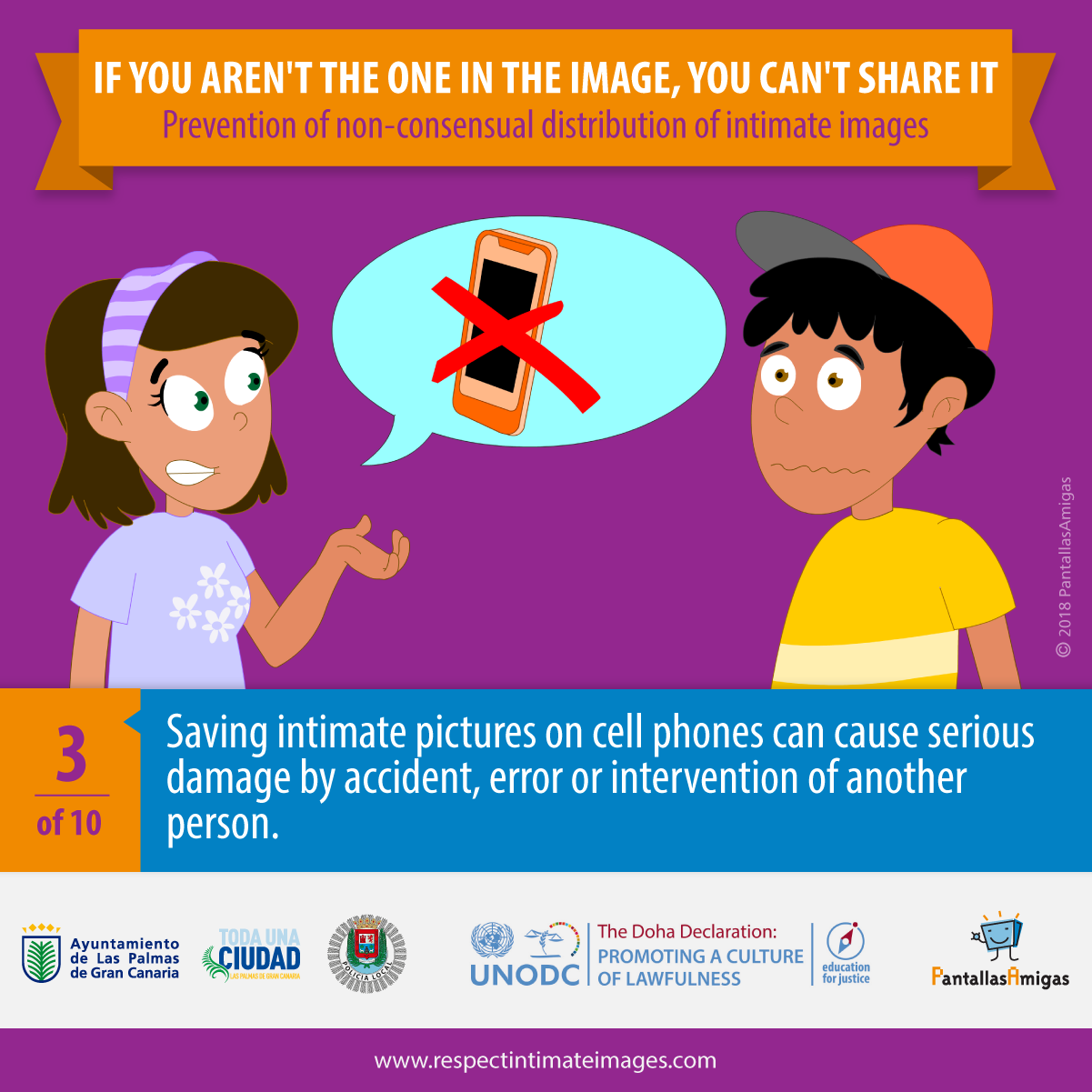 Saving intimate pictures on cell phones can cause serious damage by accident, error or intervention of another person.
